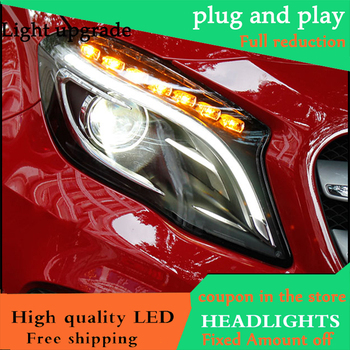 Car Styling Head Lamp For Benz GLA 200 260 2015 2016 Headlights LED Headlight Daytime Running Light DRL Bi-Xenon HID