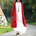 Spring autumn original design pure linen shawl cardigan tippet cappa literary irregular purelinen scarf cape cloak mantle