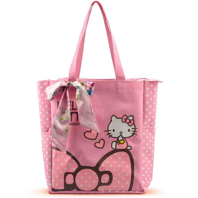 Women Casual Tote Designer Lady Large Cute Hello Kitty Handbags Bolsas  Multi-purpose Shopping Bag 15314c6879