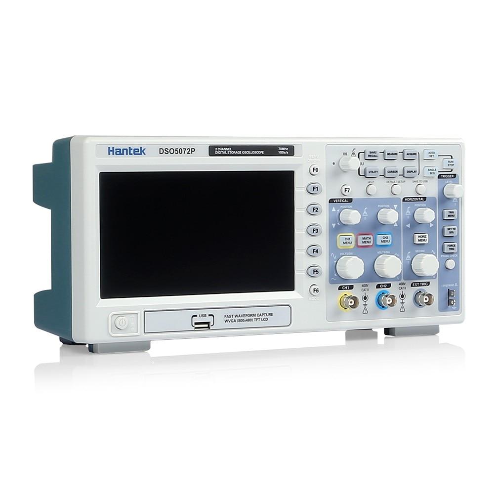 Hantek DSO5072P Digital Oscilloscope 70MHz 1GSa/s 2CH 40K 7
