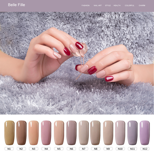Connu BELLE FILLE 2017 Nail Gel Polonais Lampe UV Soak Off Nude couleurs  GY89