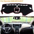 2016 Car Styling Sombra Protectora Dashboard Mat Cojín Pad Photophobism Alfombra Interior Para Hyundai IX45 Santa Fe 2013-2017