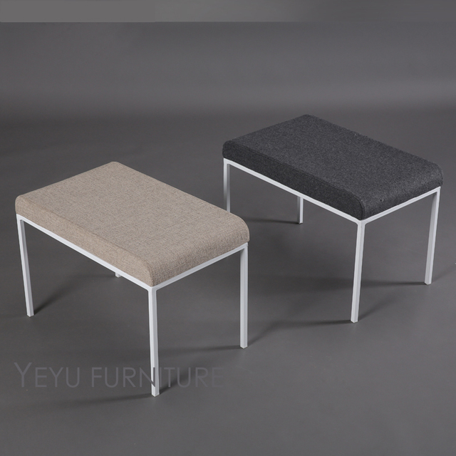 Delicieux Minimalist Modern Design Upholstered Soft Cover And Metal Ottoman Stool  Bench Shoes Stool Living Room Bed