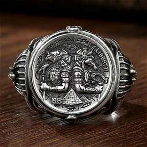 Male Ring Fine-Jewelry Ancient Egypt-Style Engagement Best-Gifts Elegant High-Class Fashionable
