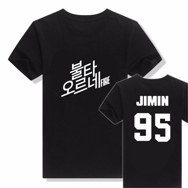 KPOP BTS Bangtan Boys Young Forever Korean T Shirt 2016 K-POP bts Classic Black White Cotton Short Sleeve T-shirts k pop Tshirts