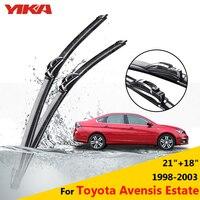 YIKA Car Windscreen Rubber Glass Windscreen Wiper Blades For Toyota Avensis Estate 21 18 Fit Hook