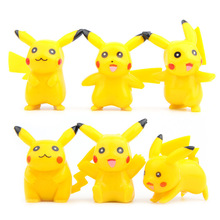 6pcs action & toy figures Pocket Monster Cute PVC  Pokemon Go Mini Pikachu figure pokemon toys for children 33w
