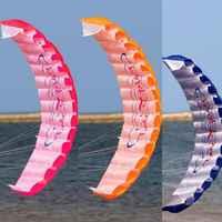 New Parachute Dual Line Stunt Kite Parapente Parafoil Nylon Kite Travel Paragliding Kitesurf Sport Toy Accessories
