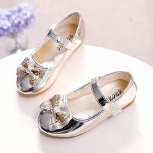 Filles Shoes Danse Shoes Shoes de Nouveaux Enfants Filles Princesse Shoes Arc Diamant De Mode Bébé Taille 21-36