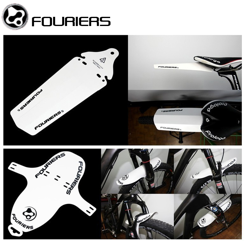 2pcs/lot FOURIERS Bicycle Fender Front And Rear Road MTB Mountain Bike Mudguard Mud Front Fork Rear Portable Quick Release
