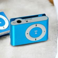 Protable Mini Mp3 Music Clip Player MP3 Player Support Micro TF Card Slot USB Candy Colors Mirror Sport MP3 Player