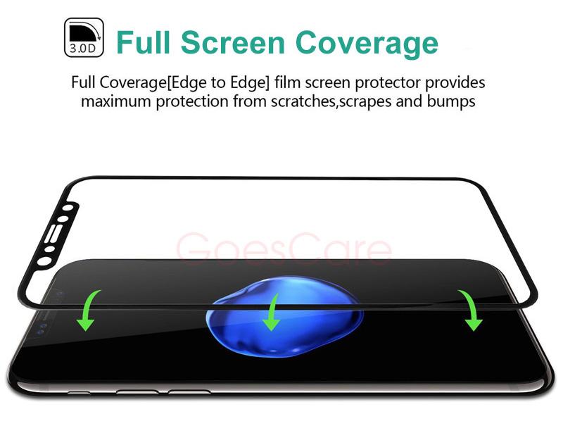 goescare 4Д полная изогнутый жесткий круглый край премиум весы стекло для айфона х 3D полный стекло экран протектор люкс плёнки