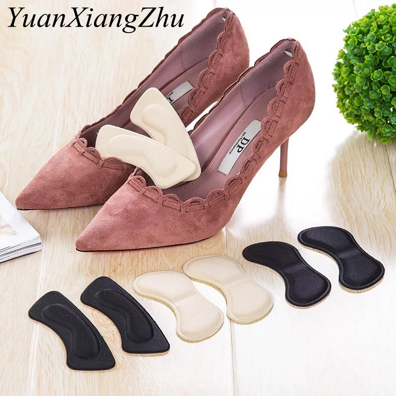 New High Quality Sponge Invisible Back Soft Heel Pads For High Heel Shoes Grip Adhesive Liner Cushion Insert Pads Insoles 1Pair