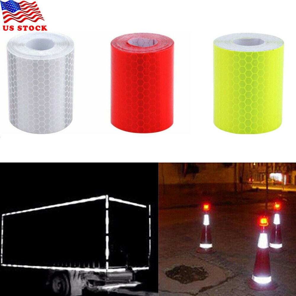 2x Reflective Tape Safety Stickers Hi Vis Safety Warning Self-Adhesive Reflector