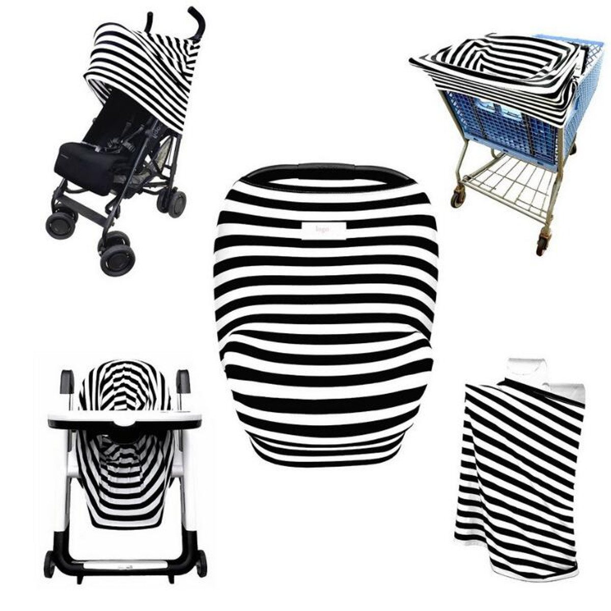 Multifunctional Stretchy Car Seat Canopy nursing cover stroller anti-sun sunshade cloth Shopping Cart Covers
