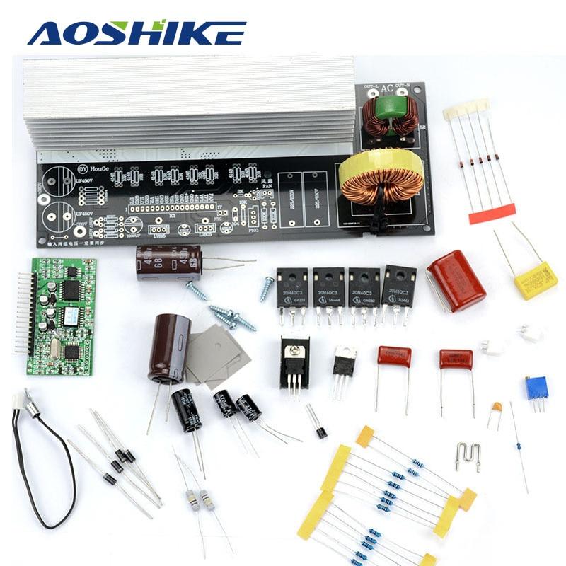 AOSHIKE 1Set 1000W Pure Sine Wave Inverter Power Board Post Sine Wave Amplifier Board DIY Kit Free Shipping tda7294 lm3886 5 1 channel pure power amp board