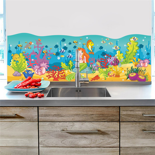 Cartoon Underwater Fish Bubble Wall Stickers For Kids Rooms Wall Decals  Nursery Room Bathroom Decor Home