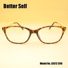 Better Self L9312 Full Rim Eyeglasses PC Spectacles Flower Decorate Slim Temple Rectangle