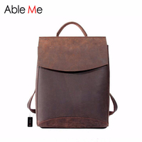 Elegant Handmade Leather Women Backpack Personality Custom High Quality With Multi Pocket Large Capacity Rucksack For