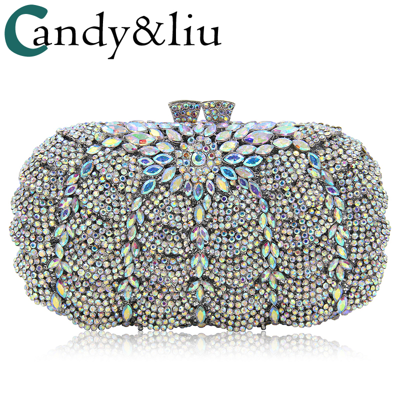 bags 2018 ladies hand bag luxury diamond-encrusted dinner bag foreign trade high-end crystal full rhinestone evening bag evening bags 2018 european american high end crystal full evening bag luxury diamond foreign trade dinner bag hollow bag