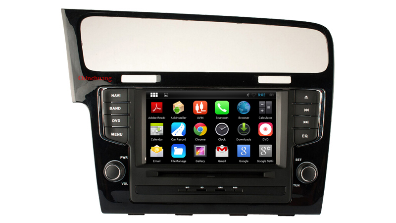 1024*600 Quad Core Android 5.1.1 Car DVD Player GPS for Volkswagen GOLF 7 2013-2015 Radio, Wifi, Mirror link