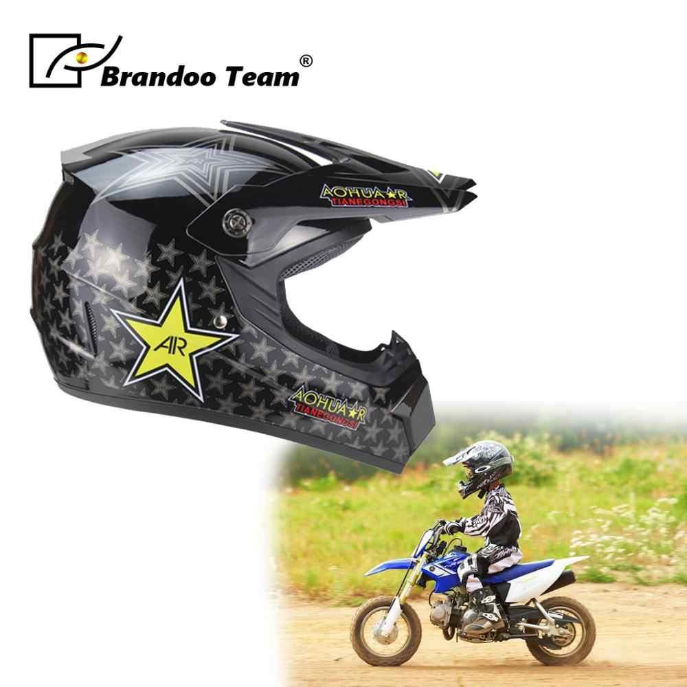 Kinderen Motorfiets Helm Mannen Integraalhelm Moto Rijden Abs Materiaal Motocross Helm Motorhelm