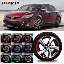 8M Car Wheel Hub Rim Edge Protector Ring Tire Strip Guard Rubber Decals For Toyota Avalon