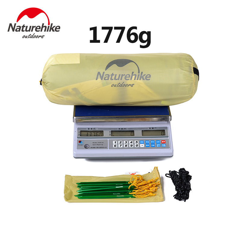 Naturehike Tent Camping 2 Person Rainproof 20D Silicone Double Layer Hiking Beach Picnic Holiday Outdoor 2 Colors Camp Tent 3