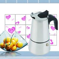 2 4 6 Cup Percolator Stove Top Coffee Maker Moka Espresso Latte Stainless Pot Hot
