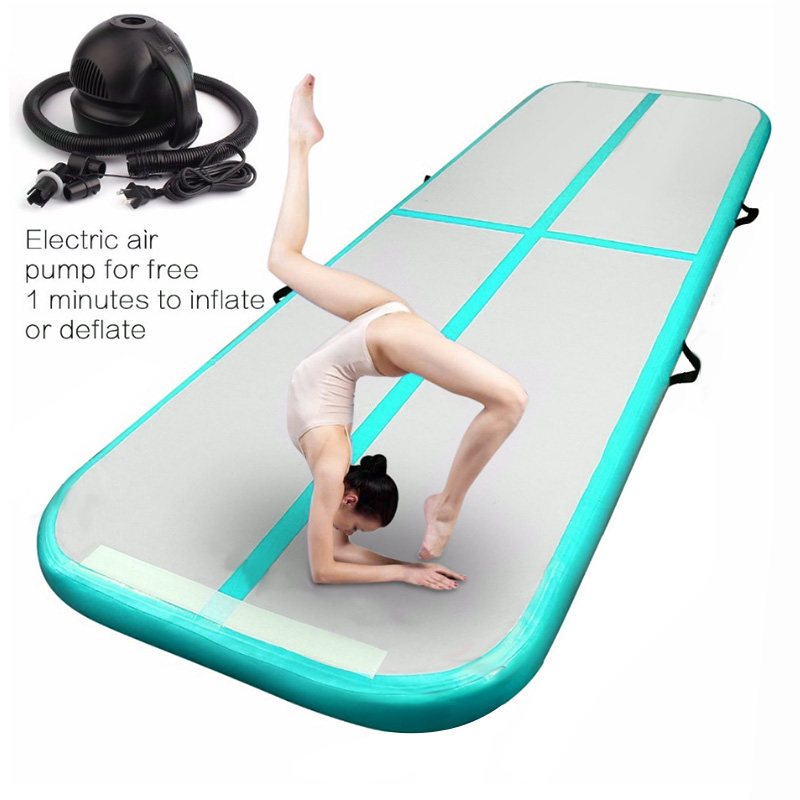 Us 214 5 35 Off Yard Inflatable Gymnastics Mat Airtrack Tumbling Mat For Home Use Training Air Tumble Track Olympics Gym Mat Yoga In Inflatable