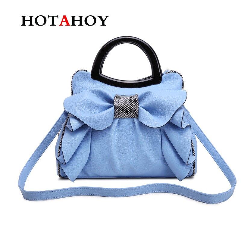 ФОТО Simple Bowknot Bags Women PU Leather Handbag Vintage Women Messenger Bags Flowers Shoulder Bag