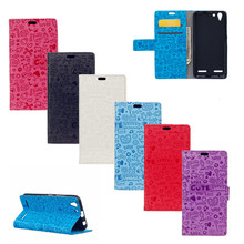 Cartoon Phone Bag For Lenovo A6020 Graffiti Leather Wallet Protective Cover For Lenovo A6020 A 6020 Case 5.0″ Card holder
