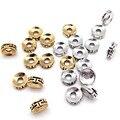 Бусины-разделители из цинкового сплава 3*7 мм, античные золотистые/Серебристые подвески для мужчин и женщин, сделай сам, ожерелья, браслеты, ю...
