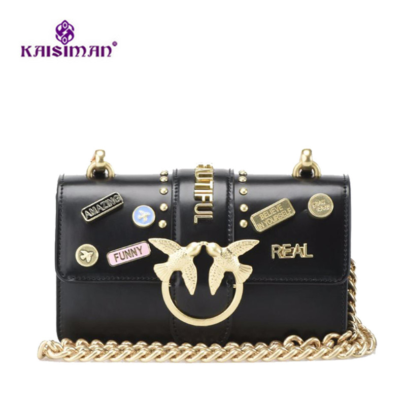 Detail Feedback Questions about INS Popular Handbag Women Bags Fashion  Swallow Beautiful Letter Logo Designer Shoulder Crossbody Bags Rivet Clutch  Purse Bag ... 0c645a8b7562