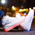 Men LED Shoes Light Up Casual Shoes Women&Men Led Glow Basket USB Rechargeable LED Luminous Shoes for Adults 35-44 Unisex