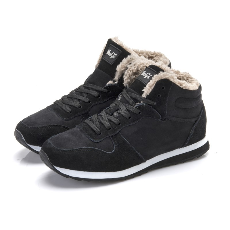 New Arrival Women Boots Warm Winter Boots Plush Warm Suede Leather Ankle Boots Lover Snow Shoes Casual With Short Plush Shoes new winter autumn brand luxury women shoes flats suede leather warm snow casual zapatillas mujer plush timber shoes for lady