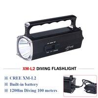 scuba flashlights Underwater 100m work flashlight Diving led Flashlight xm l2 Waterproof Torch lanterna camping fishing zaklamp
