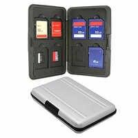 Silber Micro SD Karte Halter SDXC Speicher Halter Speicher Karte Fall Protector Aluminium fall 16 solts für SD/SDHC /SDXC/Micro SD