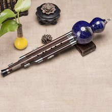 New C Key Hulusi Traditional Chinese Handmade Flute Ethnic Musical Woodwind Instrument flute intermediate concert nickel silver band with pads musical instrument c key toy musical instrument