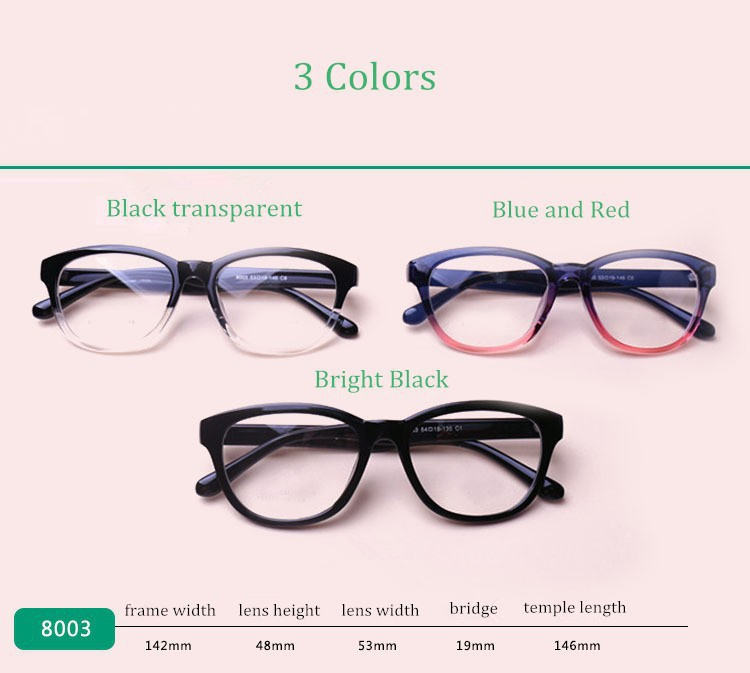 e11083302300 Fashion TR 90 Large Frame Black White Color Eyeglasses Myopia Spectacle  Student Fashion Prescription Glasses Frame. Prescription Lenses Service