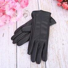 Feitong Женские зимние кожаные перчатки зимние теплые женские перчатки женские модные Элегантные Перчатки Варежки#25