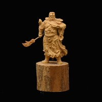 GuanYu Boxwood Carvings Car Accessories Decoration Nornaments Handcarving Furniture Collection Gift Of Chrismas Wedding
