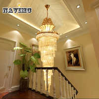 Große Gold Kaiser Kristall Kronleuchter für Hotel Halle Wohnzimmer Treppe Hängen Anhänger Lampe Europäischen Große Beleuchtung