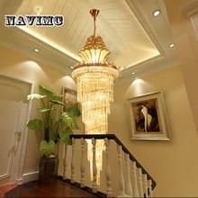 Большой золотой императорской K9 хрустальная люстра для отеля зал-гостиная лестница подвесной светильник в европейском стиле большие люстры