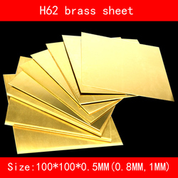 H62 mosiężna blacha 100MM * 100MM * 0.5MM MM 1MM 1.5MM 2M miedziana taca z CuZn40 2.036 CW509N C28000 C3712 do cięcia laserowego CNC DIY laboratorium w Wsporniki od Majsterkowanie na