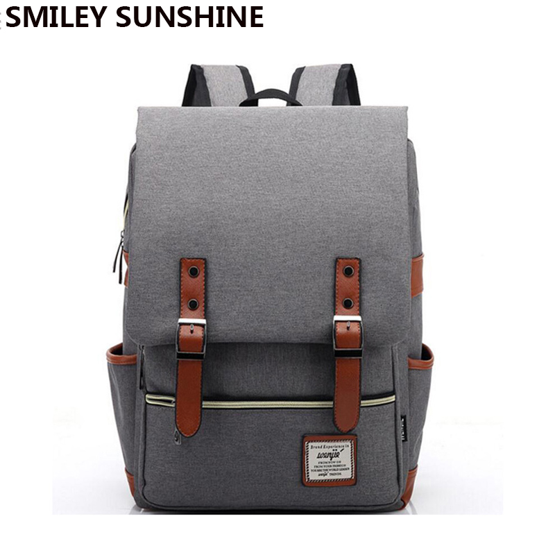 fashion vintage backpack women men youth school bag big male canvas backpacks for teenager girls. Black Bedroom Furniture Sets. Home Design Ideas