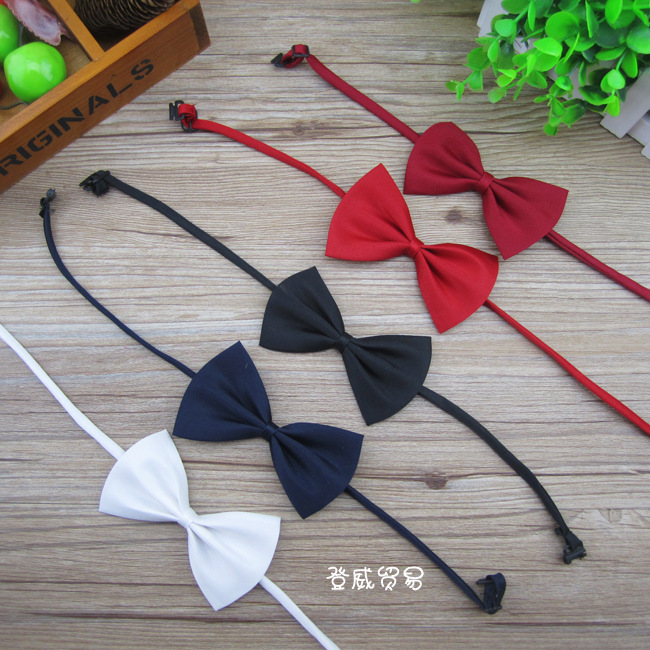New Polyester Silk Solid Colors Bow Tie Baby Accessory Kids Clothing OH66