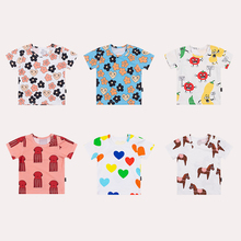 TinyPeople new fashion baby t-shirt Boys summer clothes Cotton cartoon print Girls cute short sleeve coat kid kids gift