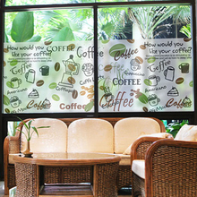 DICOR Coffee Theme Window Sticker Frosted Decorative Film For Glass Cafe Shop Accessories 2019 New BLT710