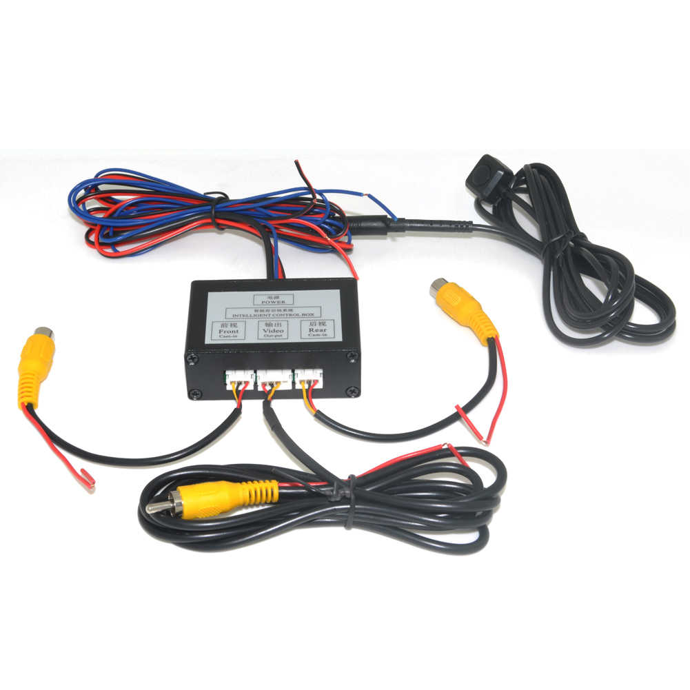 Parkeergelegenheid Camera Video Channel Converter Auto Switch Voor/View Side/Achteruitkijkspiegel Achteruitrijcamera Video Control Box met Handleiding